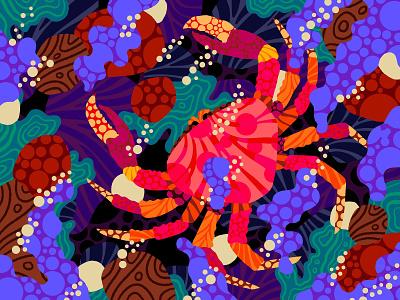 Armored Ocean Spider art illustration pencil apple ipad pro procreate illustration procreate art procreate patterns sea animal animals illustrated ocean seafood crabcakes crablegs crabs crab