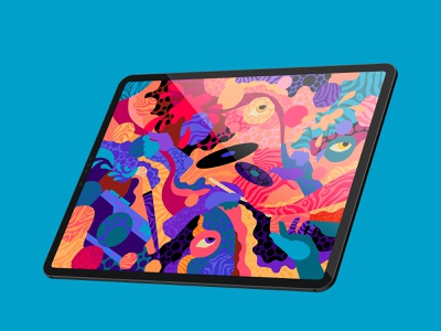Procreate 5X - Never stop drawing record hands graphic design abstract illustration textures campaign procreate art procreate 5x camera digital painting art apple apple pencil ipad pro patterns procreate brushes brushes procreate illustration procreate illustration