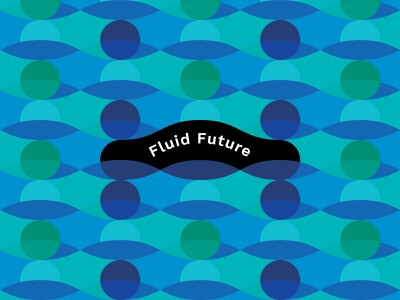 Fluid Future Pattern iconography vector branding design typography graphic design water wave pattern patterns logomark icon logo design logo