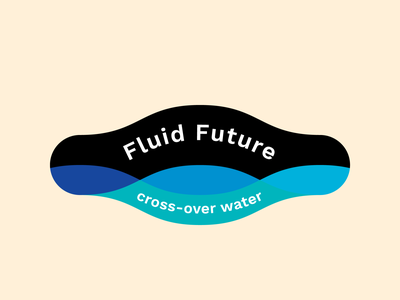 Fluid Future Logo variation typography illustrator design graphic design vector branding concept branding future fluid wave waves water icon design icon logo mak logo