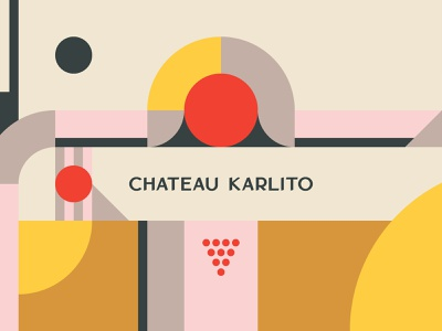 Chateau Karlito Illustration fruit grape illustrator icon logo design vector patterns typography graphic design branding store wine store natural wine wine