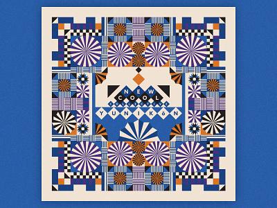 New Cool Collective - Yunikōn color variation pattern design vector festival jazz festival jazz record jazz pattern patterns illustration graphic design record sleeve vinyl record records