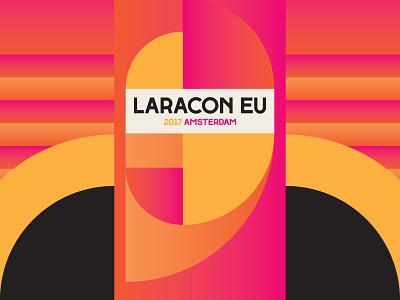 Laracon EU 2017 red illustrator campaign geometric icon design branding graphic design vector typography logo patterns