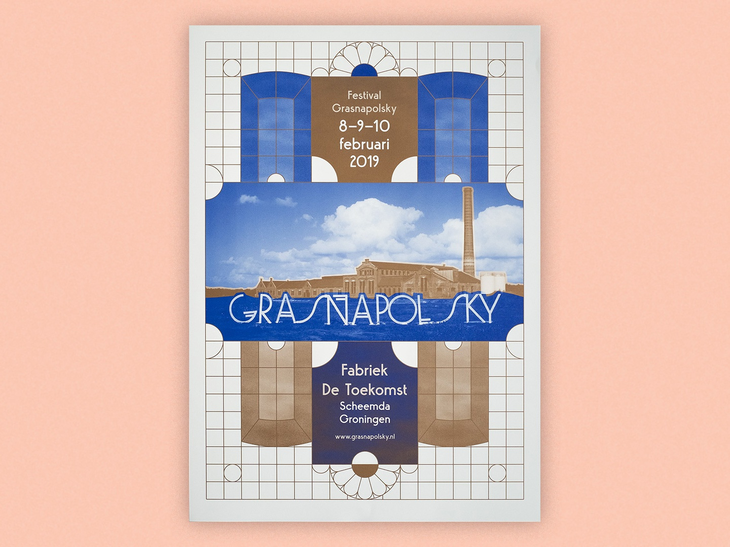 Grasnapolsky Festival 2019 poster poster design festival factory metallic pantone pms vector logo typography design graphic design branding patterns