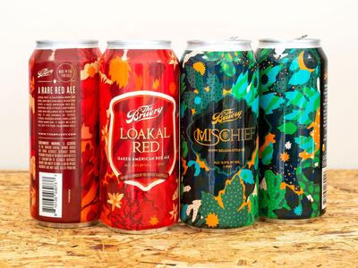 Loakl Red & Mischief beercans