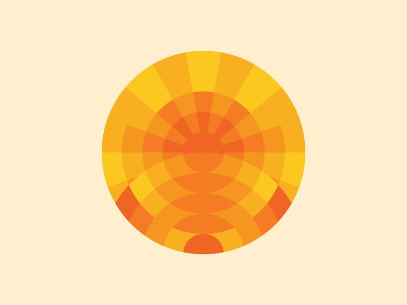Sun Sun Sun minimal t-shirt sunny sunrise grid logo grid layout brand fashion shirt mathematical dawn sunset sun grid icon design vector logo graphic design illustration