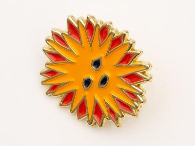 Sun Sun Sun enamel pin