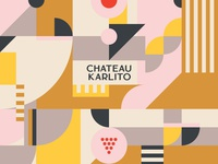 Chateau Karlito illustration system and typography