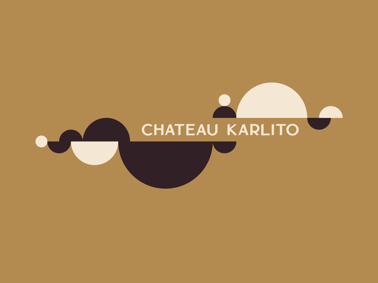 Chateau karlito logo and illustration