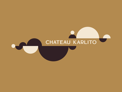 Chateau Karlito Logo and Illustration icon design graphic design branding typography logo natural wine natural wine bar wine vector minimalistic minimal illustration logotype logo custom typography typography
