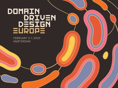 DDDEU 2020 Campaign image europe patterns vector graphic design connected cells icon custom typography typography branding logo domains event event branding conference branding amsterdam conference domain driven design