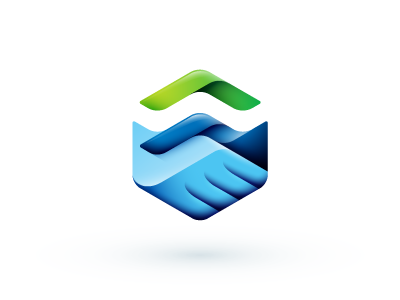 Handshaking handshaking realestate union business logo icon identity hands friendship