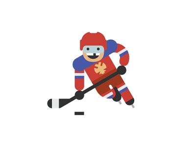 Ice hockey icon illustration flat character sport player ovechkin russia vector art hockey ice hockey