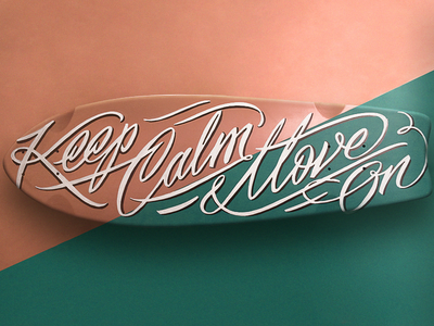 Longboard Design dynamyc typography type longboard skate calligraphy lettering