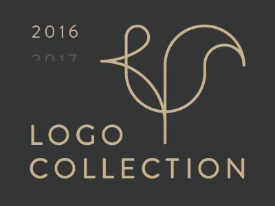 Logo collection line animal mark type logo