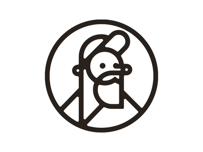 Self-portrait ) illustration icon geometriс portrait line mark logo