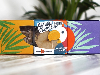 Crunch crew fullcolor craft package tropical jungle bird parrot fruit