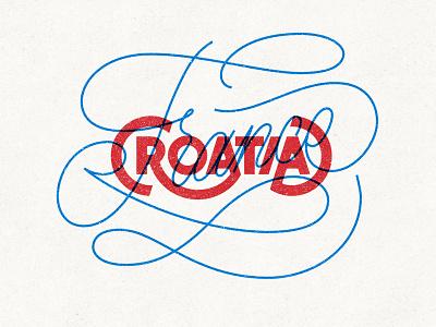 🇭🇷VS 🇫🇷 type typographic france croatia football lettering