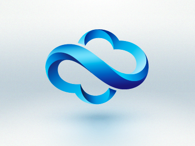 Light Climate logo identity icon blue airflow cloud smooth