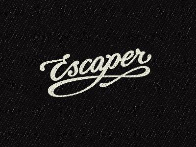 Escaper script logo clothing custom-type lettering identity hand-drawn