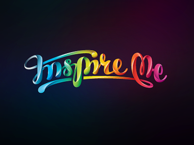 InspireMe lettering hand-writing custom-type identity colorful volume type color