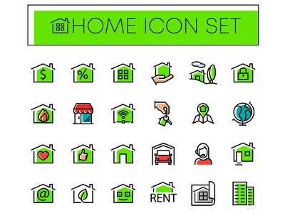 home icon with color
