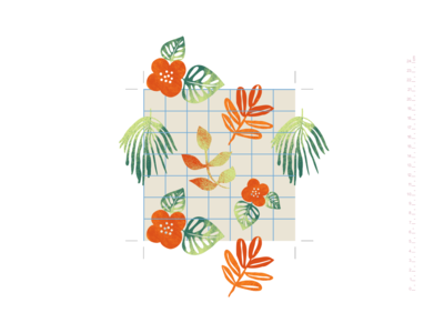 How I draw patterns. Flowers c1