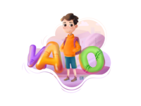ABC Book ( little character )