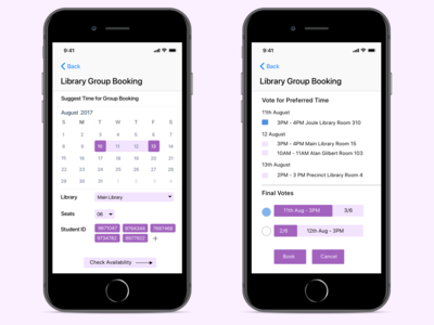 Group Library Space Booking App