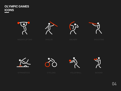 Olympic Games Icon movement olympic games icon