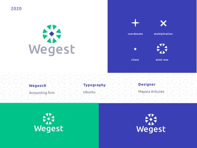 Wegest®  Brand Identity symbol windrose brazil firm accounting services accounting logo gestalt brand