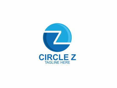 Circle Z Logo animasi web ux tipografi aplikasi merek ui ikon minimalis ilustrasi antik logo vintage logo minimalis vektor logo desain