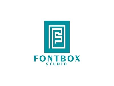 Fontbox Studio merek minimalis logo minimalis vektor logo desain