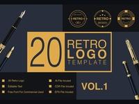 Retro Logo Template Vol.1