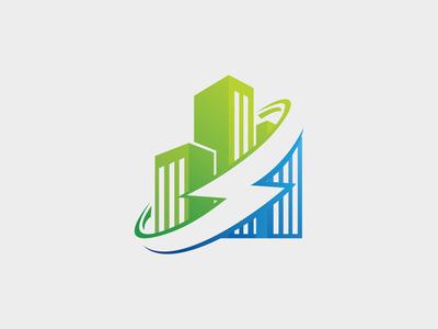 Energy Building Logo Template
