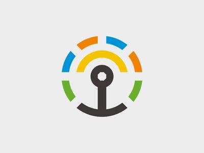 Wifi Circle Logo Concept