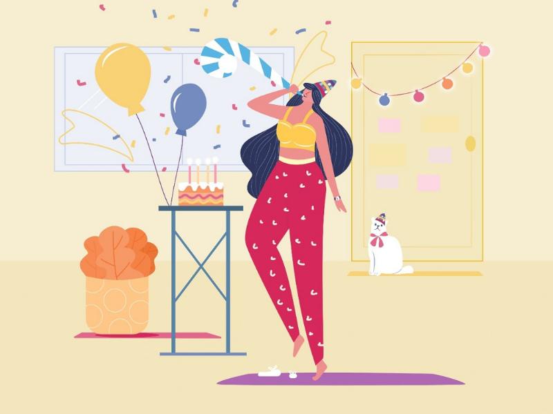 Happy Birthday to me! digitalillustration graphicdesign design draw illustrator digitalart 2020birthdays decoration celebrations birthdaygirl happybirthday art illustration