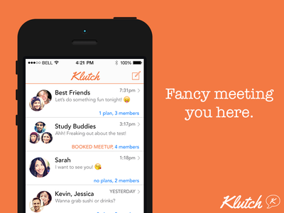 Draft 2014, Round 1, Pick 1 klutch meetup apps ios messenger local restaurants food bars drinks scheduling