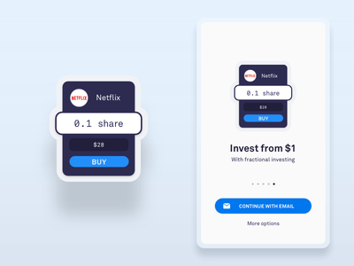 Simplified Investing UI Welcome simple illustration bitcoin investing android flat clean app purple blue ios netflix crypto invest welcome vector ux  ui ux abstract ui