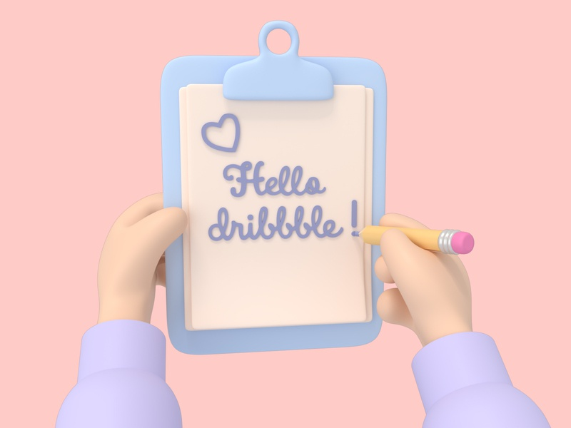 Hello Dribbble руки illustration design минимализм 3d art 3d