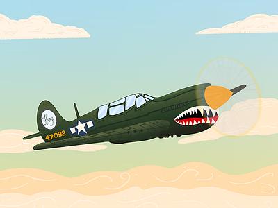 Fighter Jet Illustration military army jet airplane sky drawing illustration design