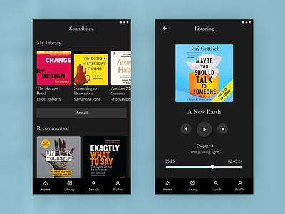 Reading App Exploration minimal design app ux ui