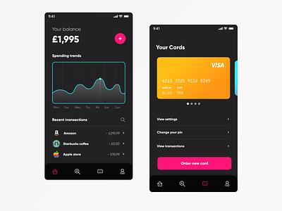 Mobile Banking web flat minimal design app ux ui