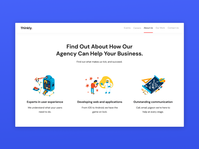 Preview of about us page minimal app ux ui