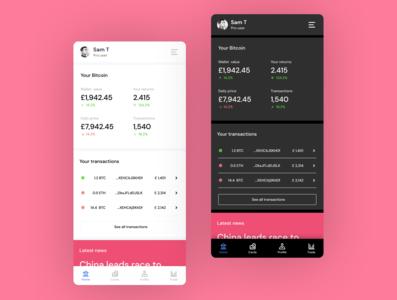 Wallet Concept minimal design app ux ui