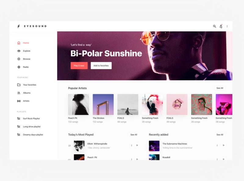 Music Player idea minimal design app