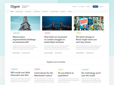 News site concept ux ui