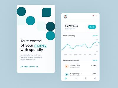 Banking mobile concept design minimal app ui