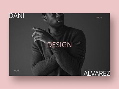 Dani Portfolio branding web designer one color minimal landingpage pink web design