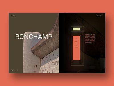 Le Corbusier 2 color design landing page webdesign